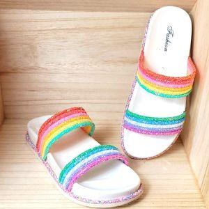Fashion Womens Sugar Sprinkles Flat Sandals